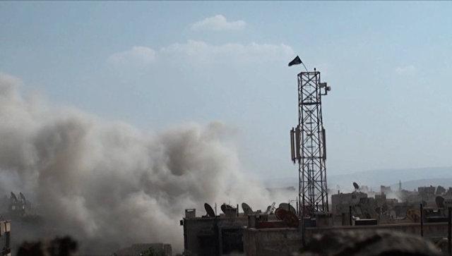 Сирийская Армия обстреляла из минометов базы боевиков в Дамаске