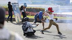 Участники акции протеста в Никарагуа. Архивное фото