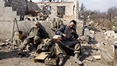 Украинские военные готовятся к боям в Авдеевке, Донецкая область