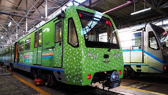 Пуск тематического поезда метро Московская весна A Cappella