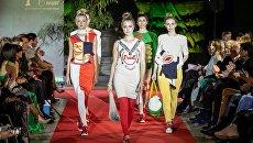 Fashion-шоу фонда Русский Силуэт в галерее искусств Зураба Церетели в рамках 40-го ММКФ