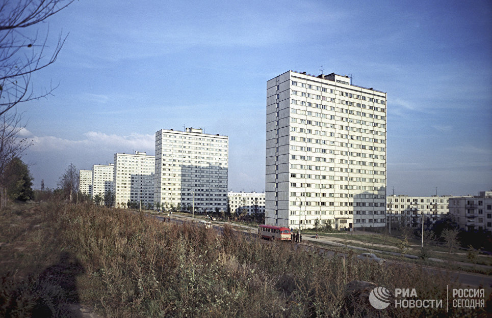 Жилые дома района Кунцево в Москве