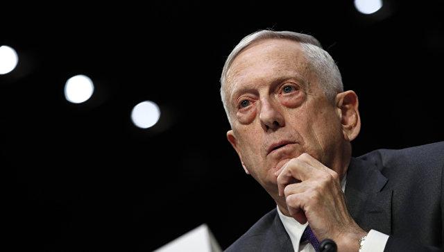 Глава Пентагона Джеймс Мэттис в комитете Сената США по вооруженным делам. 26 апреля 2018