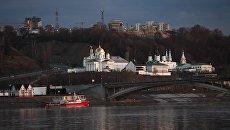 Вид Благовещенский монастырь в Нижнем Новгороде. Архивное фото