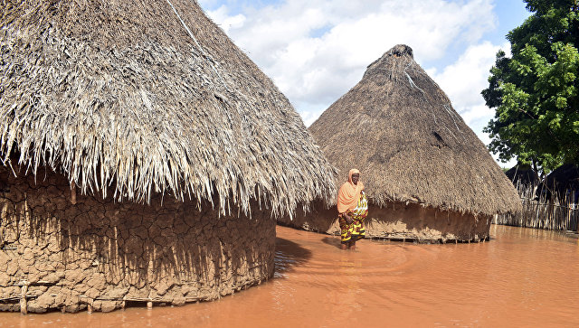 Затопленные дома в Кении. Архивное фото