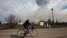 Пожар на складе боеприпасов в Харьковской области. Архивное фото