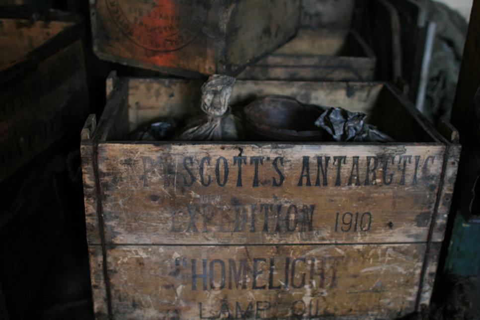 Ящик в хижине Роберта Скотта