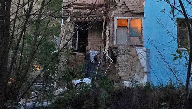 На месте обрушения части жилого дома в Саратове. 7 мая 2018