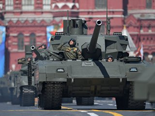 Танк Т-14 Армата на военном параде, посвященном 73-й годовщине Победы в ВОВ. Архивное фото