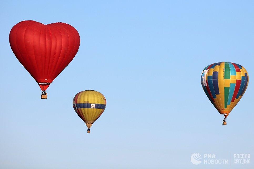 Воздушные шары на фестивале воздухоплавания Абинская Ривьера в Абинском районе Краснодарского края