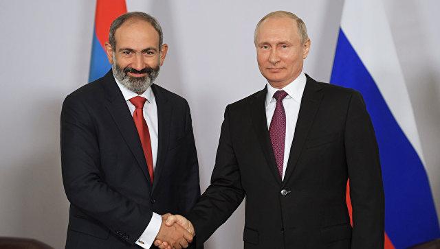Image result for пашинян и путин