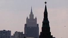 Высотное здание министерства иностранных дел РФ. Архивное фото