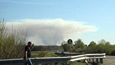 В Удмуртии две тысячи жителей эвакуировали из-за пожара на полигоне