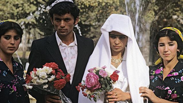 Таджикская свадьба. Архивное фото