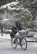 Велосипедист в Японии