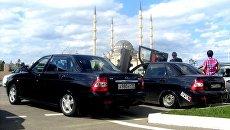 Автомобили Lada Priora в Грозном. Архивное фото