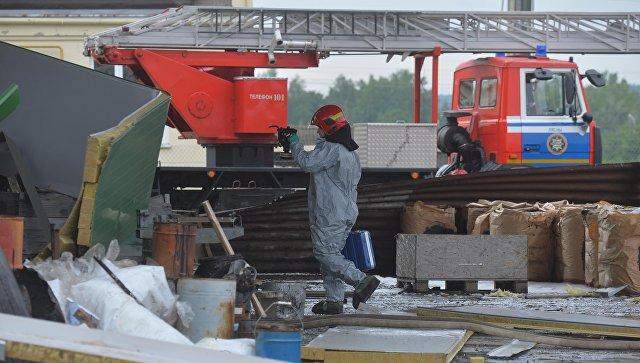 Взрыв на белорусском заводе Алкид в Минской области по производству гидроизоляционных и кровельных мастик и эмульсий. 22 мая 2018