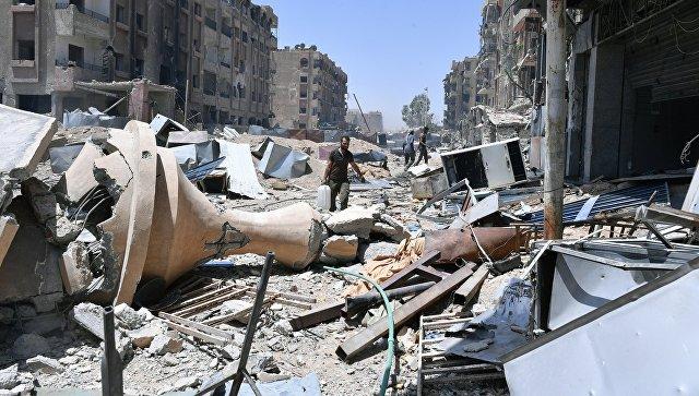 Разрушенные дома, Сирия. Архивное фото