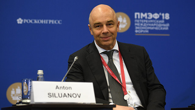 Первый вице-премьер России, министр финансов Антон Силуанов на Петербургском международном экономическом форуме. 24 мая 2018