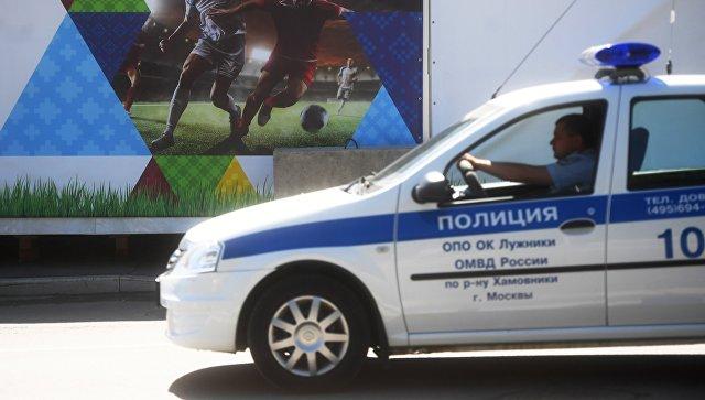 Сотрудники правоохранительных органов во время подготовки к чемпионату мира по футболу 2018 в Москве.