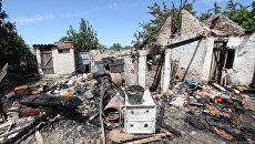 Последствия обстрела в Докучаевске. Архивное фото