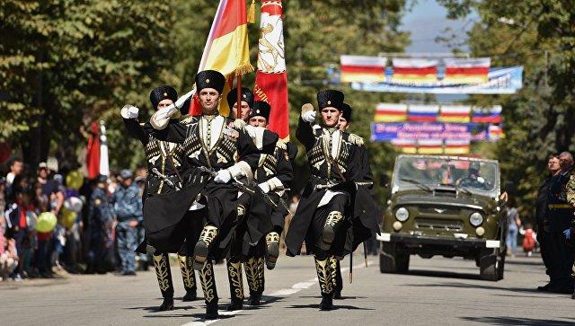 Празднование провозглашения независимости Южной Осетии. Архивное фото
