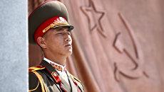 Военный в Пхеньяне. архивное фото