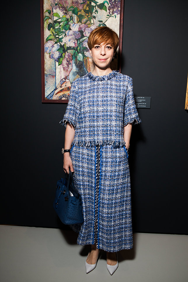 Марианна Максимовская на выставке Импрессионизм в авангарде в Музее русского импрессионизма в Москве