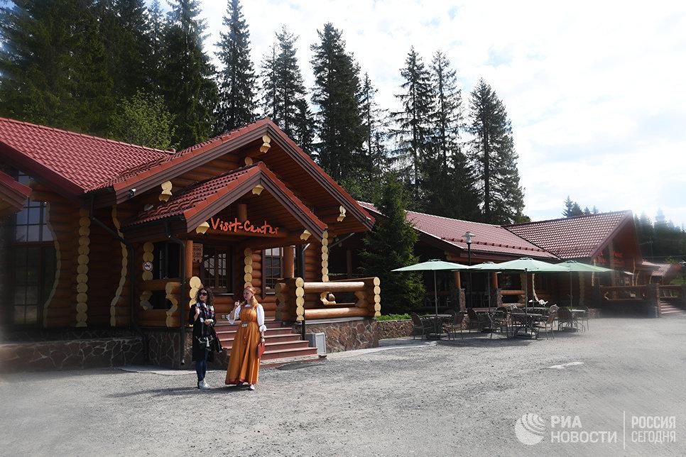 Информационный центр для туристов в горном парке Рускеала