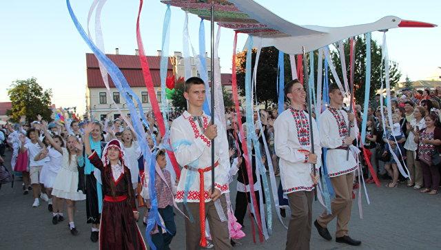 Участники фестиваля национальных культур в Гродно