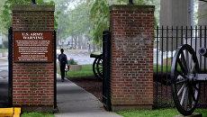 Вход на военную базу Форт Гамильтон в Нью-Йорке, США. Архивное фото