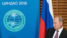 Владимир Путин на саммите ШОС