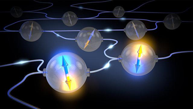 Так художник представил себе вечные кубиты и узлы в квантовой глобальной сети