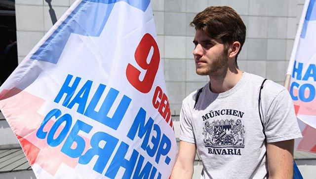Работа предвыборного штаба Сергея Собянина в Москве. Архивное фото