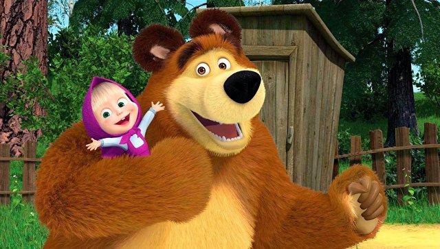 Кадр из мультфильма Маша и Медведь. Архивное фото