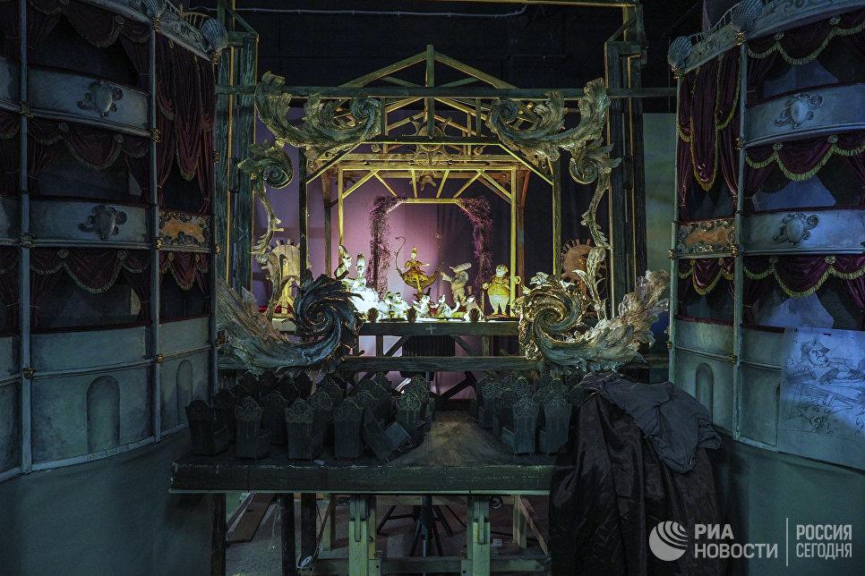 Декорации к мультипликационному фильму Гофманиада на киностудии Союзмультфильм