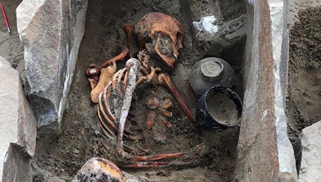 Мумия, обнаруженная на могильнике Терезин в Красноярском Крае