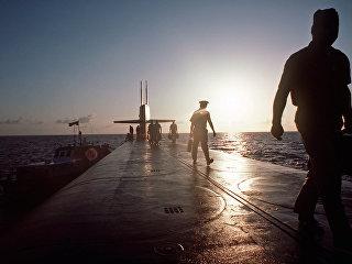 Члены экипажа подводной лодки ВМС США. Архивное фото