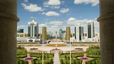 Вид из президентского дворца в Астане. Архивное фото