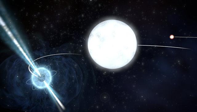 Ученые впервые сравнили скорости падения пушинки и нейтронной звезды (слева) – самого плотного объекта Вселенной