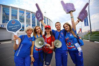 На Стрелке: будни волонтеров ЧМ-2018 в Нижнем Новгороде
