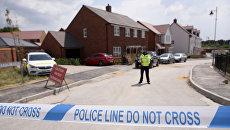 Лента полицейского ограждения у дома жертвы отравления в Эймсбери. Архивное фото