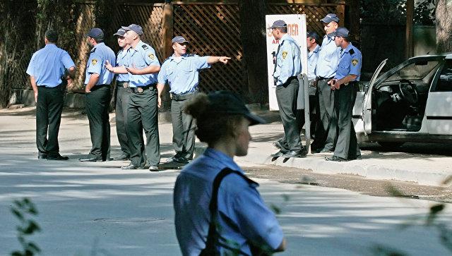 Сотрудники полиции в Грузии. Архивное фото
