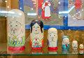 Японская матрешка с изображением божества Фукурумы