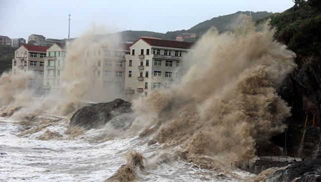 Тайфун в Китае. Архивное фото