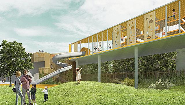 Визуализация проекта садов на месте московского монорельса