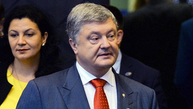 Президент Украины Петр Порошенко на саммите стран-участниц НАТО в Брюсселе. Архивное фото