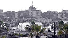 Вид на город Думьят в Египте