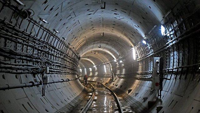 Строительство станции метро Беломорская