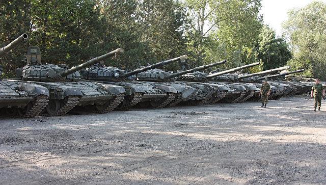 Оставленная грузинской армией бронетехника